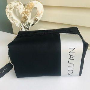 NWT Nautica Black toiletries Travel Bag